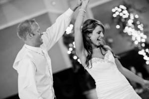 newly married dancing